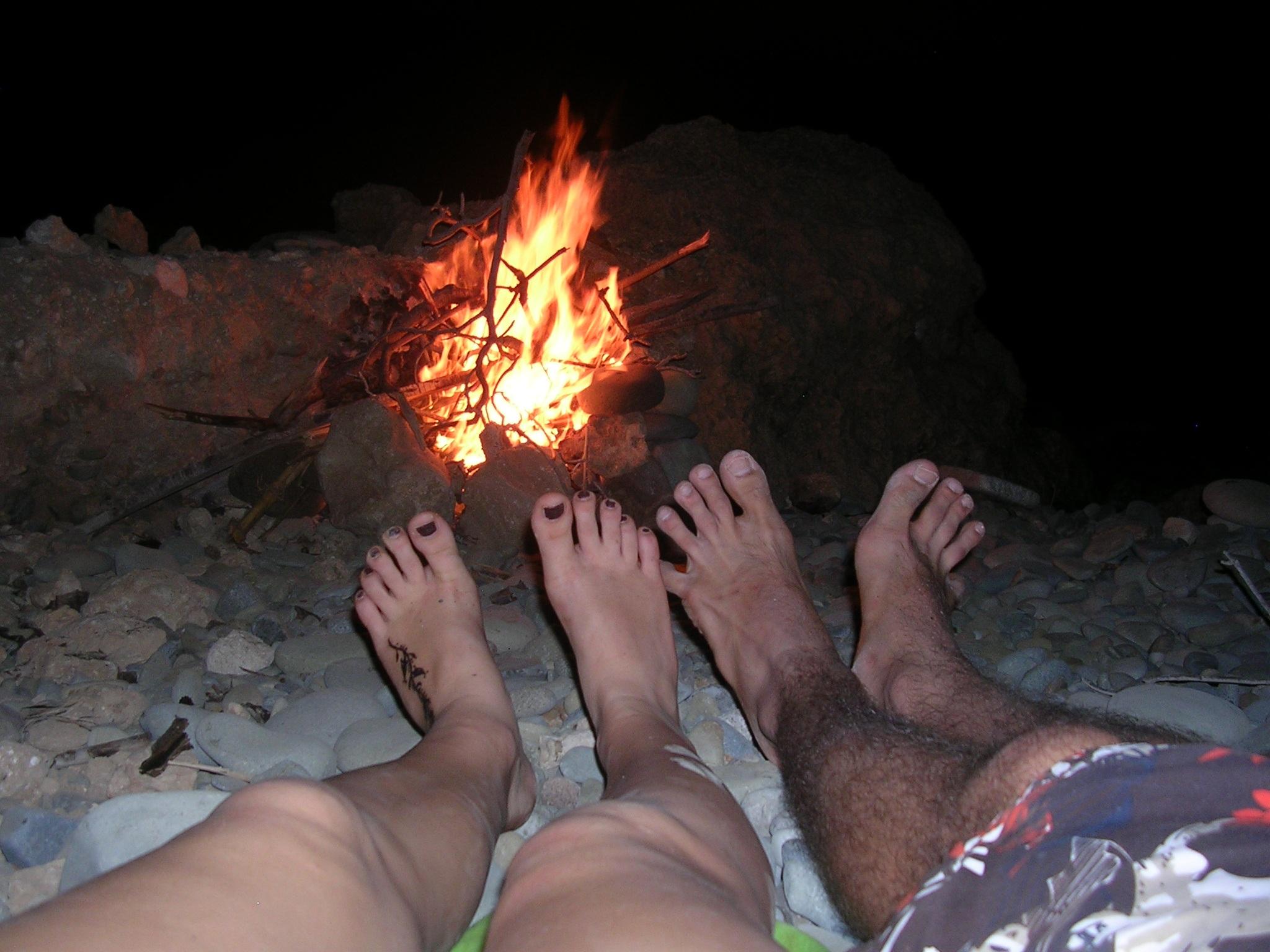 Feuer in unserer Bucht